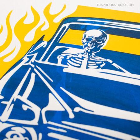 skeleton-cadillac-1954-poster-arvizu