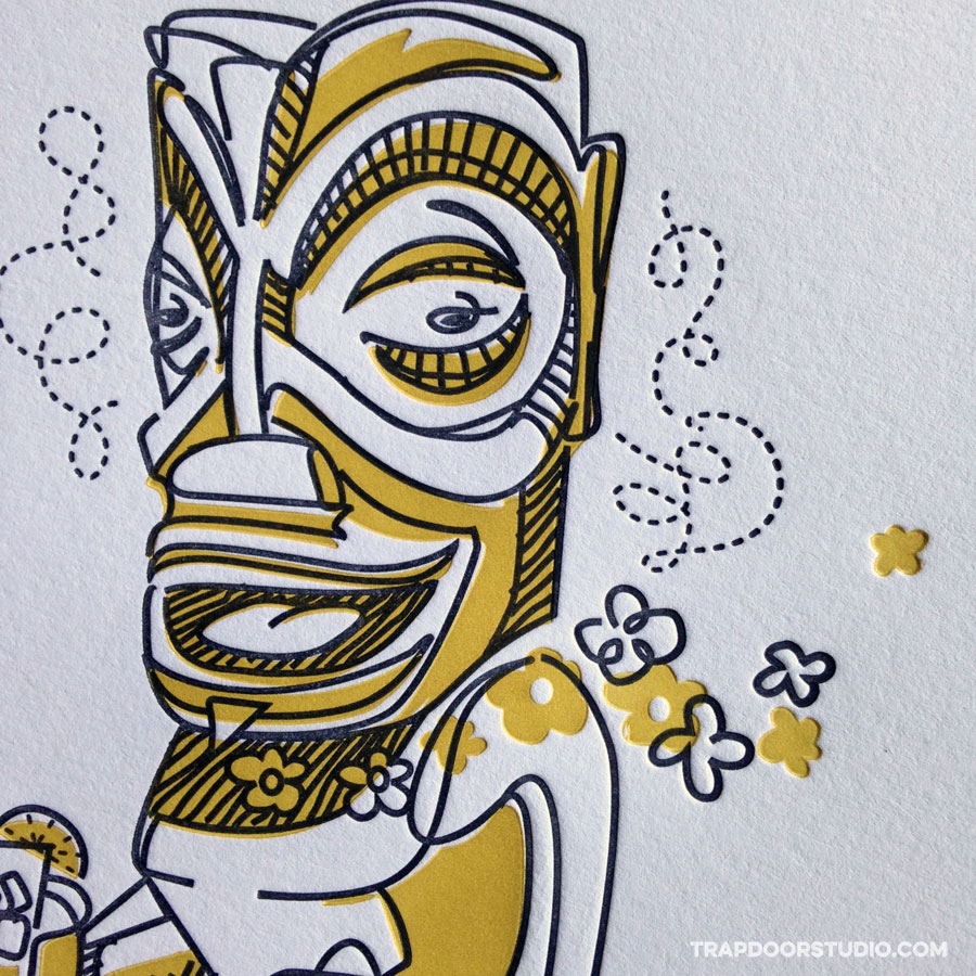 tourist-tiki-letterpress-detail