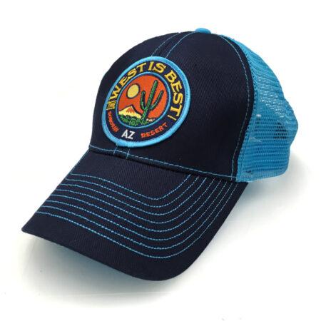 West is Best blue trucker hat