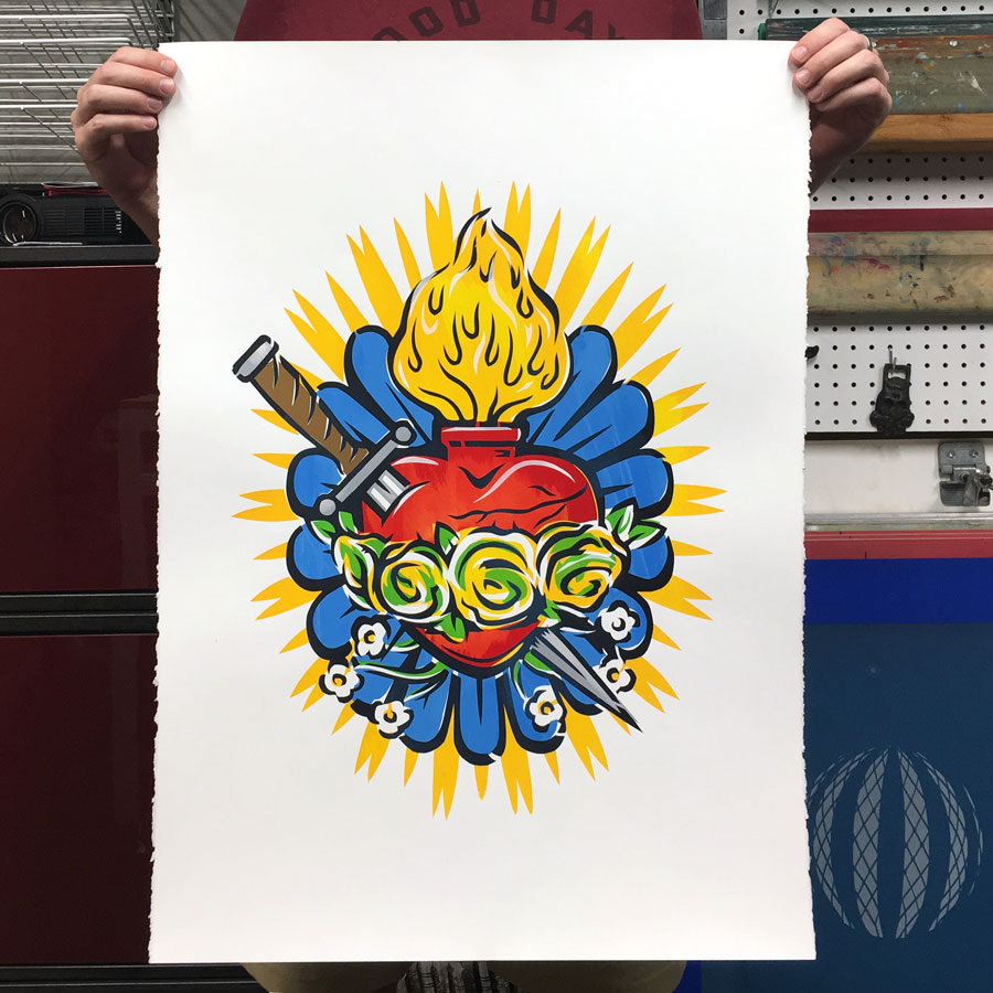 flaming-heart-print