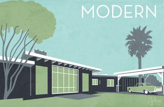Charmant Modern Architecture Illustration Arvizu
