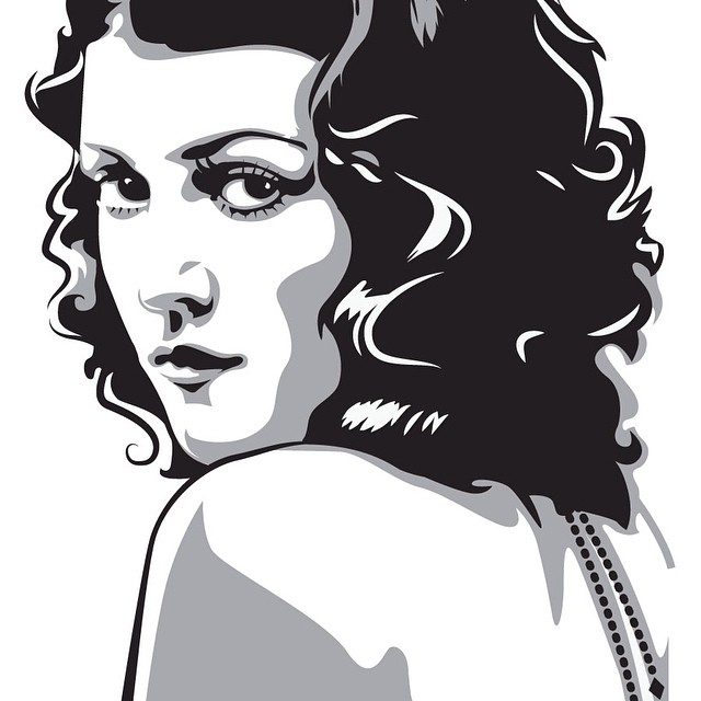 """Gypsy Rose"" #vector #vectorart #illustration #vintage #American #americana #burlesque #portrait #gypsyrose"